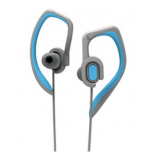 Наушники Rock Y7 Stereo Earphone dark grey + azure for iPhone / iPad / iPod