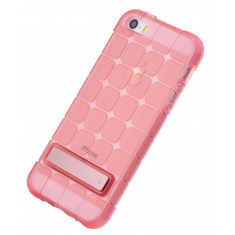 Чехол Rock Cubee Series Transparent Pink  для iPhone SE/5S/5